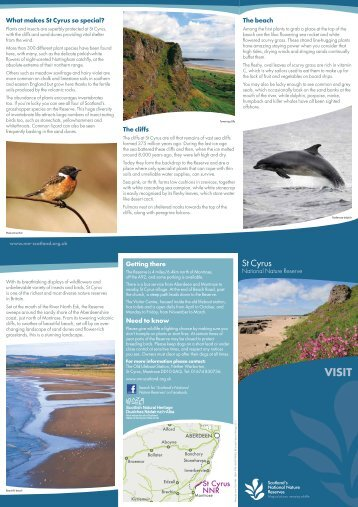 St Cyrus - Scottish Natural Heritage
