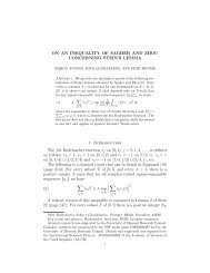 ON AN INEQUALITY OF SAGHER AND ZHOU CONCERNING ...