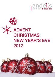 Advent, Christmas and New Year's offers