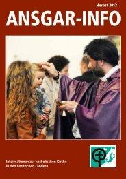 Herbst 2012 Informationen zur katholischen Kirche in ... - Ansgar-Werk