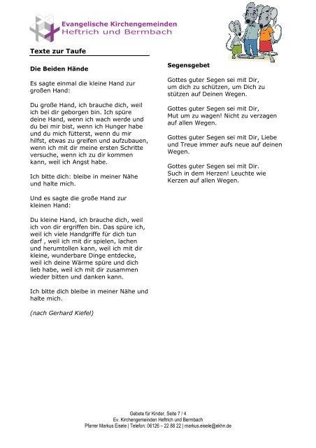 Texte Zur Taufe Taufgedic