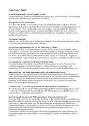 Informationen zur Taufe
