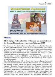 bereich des Kinderheimes startet am 8. Januar 2013 - St. Lukas