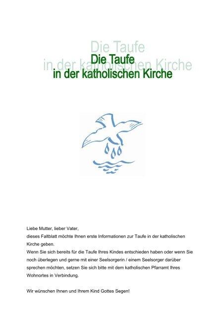Taufbroschüre Des Kath Stadtdekanats Stuttgart