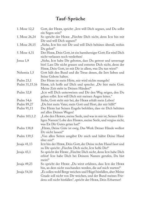 Tauf Sprüche 1 Mose 12