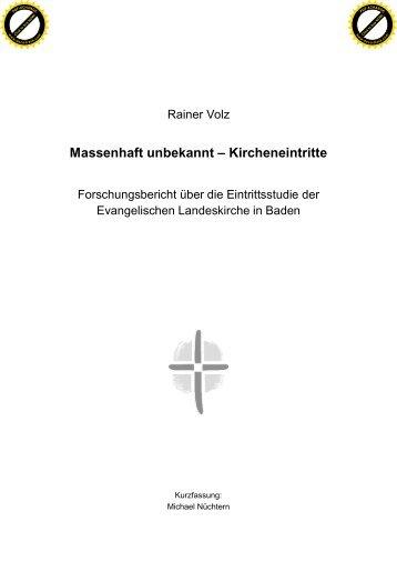 Zusammenfassung der Kircheneintrittsstudie - Evangelische ...