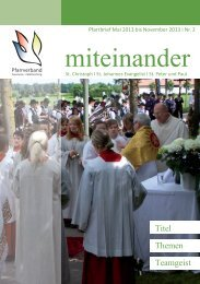 ++Pfarrbrief - Kath. Pfarrgemeinde St. Peter und Paul