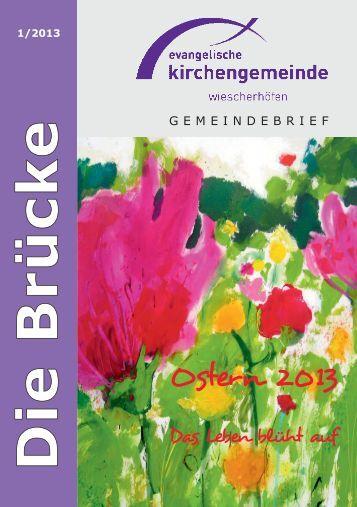 """Gemeindebrief """"Die Brücke"""" - Evangelische Kirchengemeinde ..."""