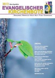 Ausgabe 1/2013 - Evangelische Pfarrgemeinde Schladming