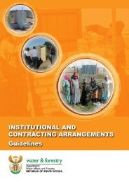 Institutional and Contracting Arrangements - DWA Home Page