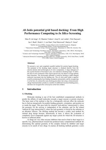 Ab Initio potential grid based docking - Theoretical Chemistry Group ...