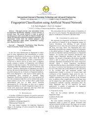 Fingerprint Classification using Artificial Neural Network - IJETAE
