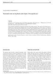 Taxonomic notes on Dysphania and Atriplex (Chenopodiaceae)