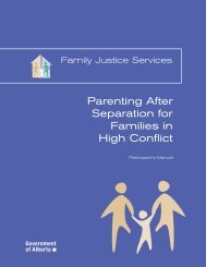 Parenting After Separation for Families in High ... - Alberta Courts