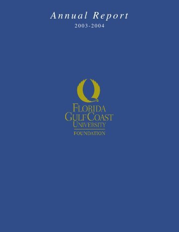 Annual Report - Florida Gulf Coast University