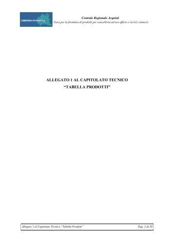 all.3.1 Tabella Prodotti (formato .pdf) - Agenzia Regionale Centrale ...