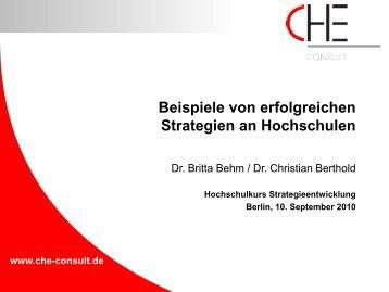 Behm/Berthold, Beispiele erfolgreicher Strategien - Hochschulkurs