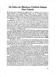 Die Kultur der Münchener Friedhofs-Anlagen Hans Grässeis.