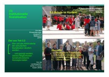 (3) Institutionelle Sozialisation