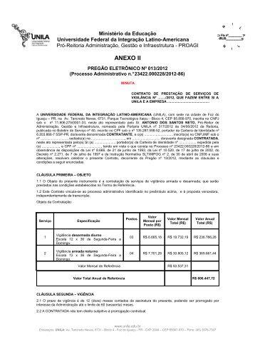 Anexo II - Minuta de Contrato - Unila