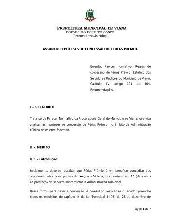 Parecer Normativo - Viana