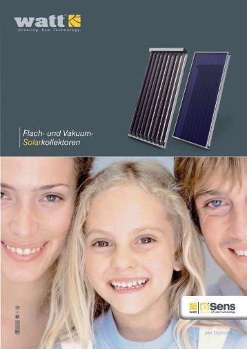 Flach- und Vakuum- Solarkollektoren - Watt