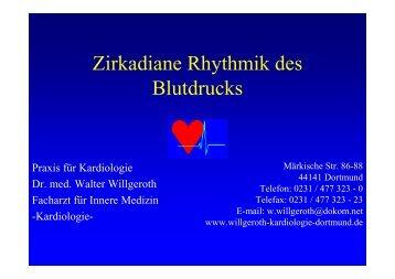 Zirkadiane Rhythmik des Blutdrucks - Ww-kardio-do.de