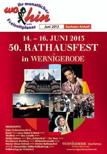 Juni 2013 - wohin - Ihr Kulturmagazin für Sachsen-Anhalt