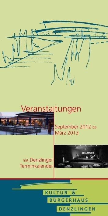 Programmheft - Kultur & Bürgerhaus