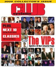 The VIP's - Club Systems Int'l 2008 Collector's Issue - ClubWorld
