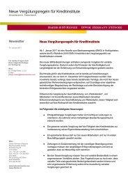 Neue Vergütungsregeln für Kreditinstitute - Baker & McKenzie