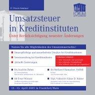 Umsatzsteuer in Kreditinstituten