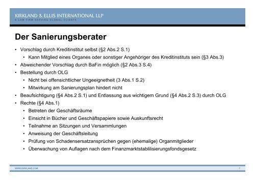 Das Kreditinstitute-Reorganisationsgesetz – KredReorgG