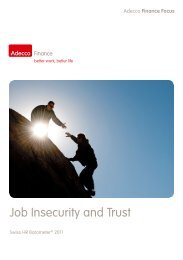 AFF 09/2011 - Job Insecurity and Trust - Adecco Switzerland