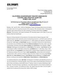 california shakespeare theater announces casting and creative team