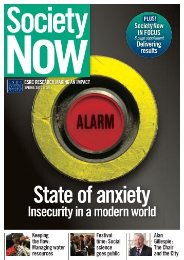 Insecurity in a modern world - ESRC