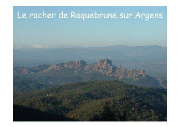 Le rocher de Roquebrune sur Argens - geologie randonneurs