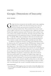 Georgia: Dimensions of Insecurity