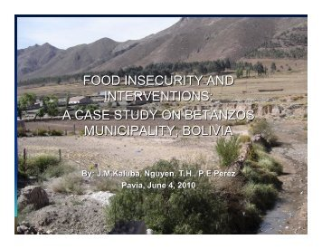 FOOD INSECURITY AND INTERVENTIONS: A CASE STUDY ON ...