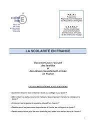 LA SCOLARITÉ EN FRANCE - Académie de Reims