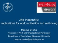 Job Insecurity: