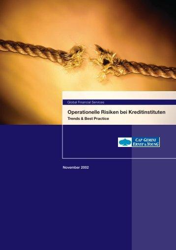 Operationelle Risiken bei Kreditinstituten - Versicherungsmagazin