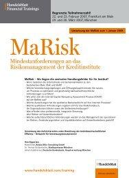 Mindestanforderungen an das Risikomanagement der Kreditinstitute