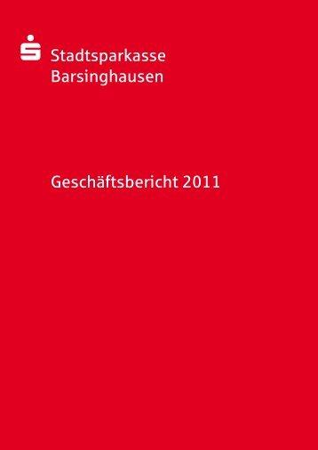 Geschäftsbericht 2011 als PDF - Stadtsparkasse Barsinghausen