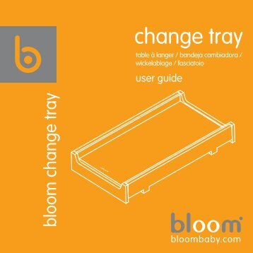 bloom change tray guide - Boohoobaby