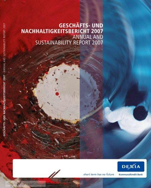 und nachhaltigkeitsbericht 2007 annual and sustainability report 2007