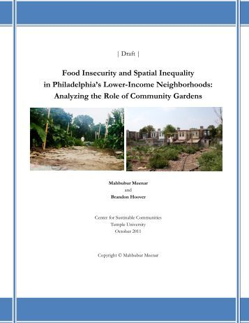 Food Insecurity & Spatial Inequality in Lower ... - Temple University