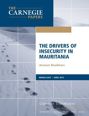 the drivers of insecurity in mauritania - Carnegie Endowment for ...