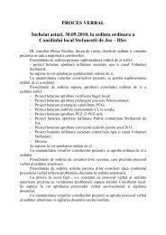 PROCES VERBAL - Primaria Stefanestii de Jos