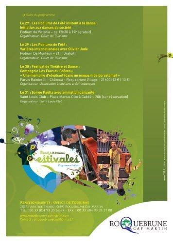 Les Podiums de l'été invitent à la danse - Roquebrune-Cap-Martin